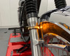 Motorbike Indicators LED Strips Amber + White Daytime Running Lights Fork Mount