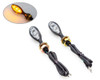 Motorbike LED Indicators Side Amber Blinkers Light Lamp Custom Bike Cafe Racer