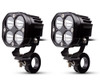 Motorbike Spotlight Foglight LED Kit 40W Lamps + Wiring Harness Switch Clamps