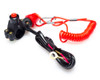 """Motorbike Kill Switch Engine Cut Off for 22mm 7/8"""" Bars with Cable Cord Tether"""
