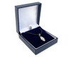 Sterling Silver Hamsa Pendant with Cubic Zirconias on a 41-46 Leatherette Necklace