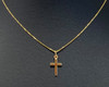 Ladies Delicate 9ct Gold Hallmarked Cross Pendant on a 46cm Necklace