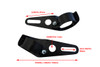 Pair Of Black Universal Fork Mount Headlight Brackets for Motorbike Fits: 32mm - 40mm