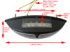 Universal E-marked Black Custom LED Stop / Tail Light for Motorcycles Motorbikes Quads Trikes and Scooters