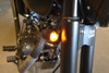 Matt Black Custom Aluminium Motorcycle Motorbike LED Indicators / Turn Signals