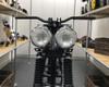 "4.75"" Headlights Bates Style - PAIR - CHROME 35W for Custom Project - Bottom Mount"
