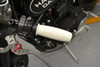 """High Quality 25mm (1"""") Motorbike White Hand Grips To Fit Harley Davidson & Other Custom Motorbikes"""