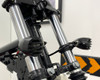 Prison Style Crinkle Matt Black Aluminium LED Indicators for Retro Custom Cafe Racer Motorbikes -