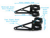 High Quality Pair of CNC Machined Headlight Brackets / Fork Clamps for Motorbike Motorcycle (size options available)