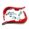 Red Motorbike Handguards Hand Brush Guards with Aluminium Inserts ATV Quad Bike Motocross Trail Supermoto