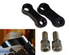 Pair of High Quality Black 6cm Long 10mm Thread Yamaha Motorbike Mirror Extenders