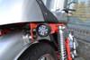 Matt Black Steel LED Motorbike Motorcycle Indicators / Turn Signals