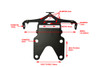 High Quality Universal Adjustable Motorcycle Motorbike Tail Tidy License Plate Holder