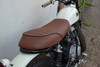 Motorbike Seat for Scrambler Yard Build with Ribbed Look in Brown