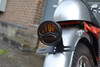 "Black Vintage ""STOP"" Universal Motorcycle Motorbike Stop/Tail Light - Bulb Type"