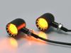 Black Aluminium Contrast Cut LED Motorcycle Motorbike Indicators / Turn Signals