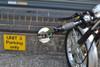 High Quality Black Round Aluminium Motorcycle Motorbike Folding Bar End Mirrors
