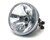 Motorcycle Headlight with 32mm - 40mm Brackets Black Metal Custom Project Retro