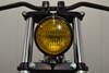 "4.75"" 120mm BLACK Bates E-marked Yellow Metal Motorcycle Motorbike Headlight"
