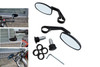 Pair of High Quality CNC Machined Aluminium Motorcycle Motorbike Handlebar Bar End Cafe Racer Mirrors