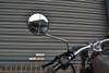 Pair Round Black Scooter Moped Vespa Piaggio Sym Mirrors - Universal Fit - 8mm