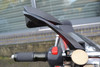 Black CNC Machined Billet Aluminium Razor Mirrors Naked Motorbikes Trikes Scooters