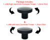 Pair of Billet Aluminium M8 Thread Mirror Blanking Plugs for Ducati Monster and Diavel Reverse Thread Mirrors