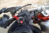 "Quality Motocycle Motorbike 7/8"" 22mm Handlebar Security Helmet Lock Matt Black"