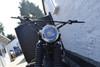 "6"" Black Mesh Grill H4 Retro Headlight with Chrome Bezel for Project Cafe Racer Scrambler Motorbike"
