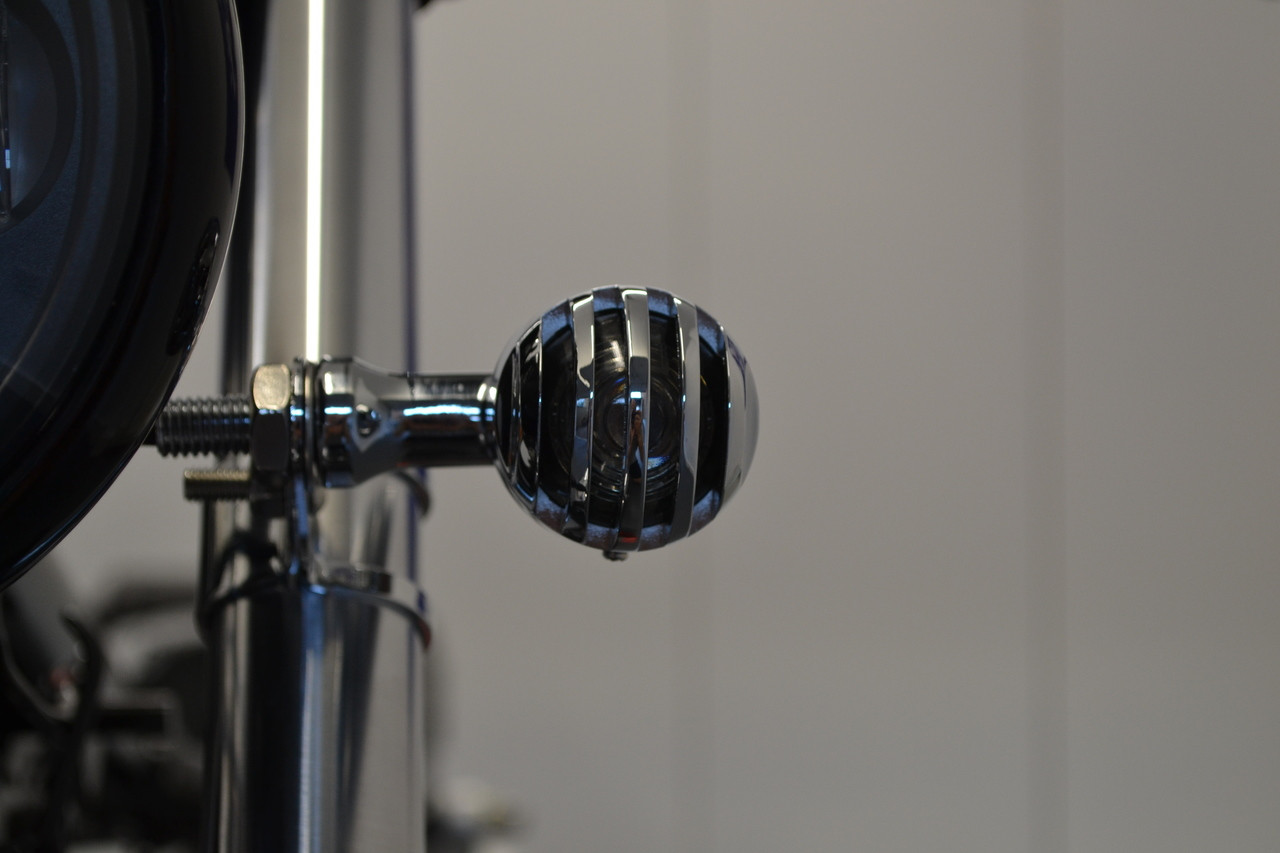 Motorbike LED Indicators For Cafe Racers /& Brat Bikes Prison Style Chrome Ally