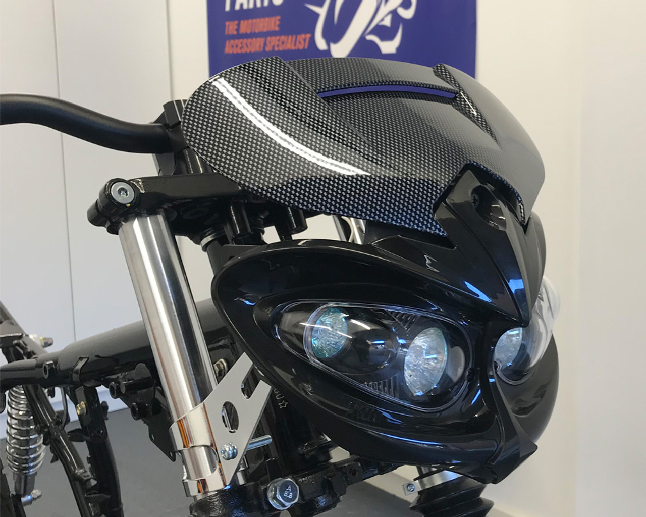 Black CNC aluminum 52mm headlight bracket cafe racer