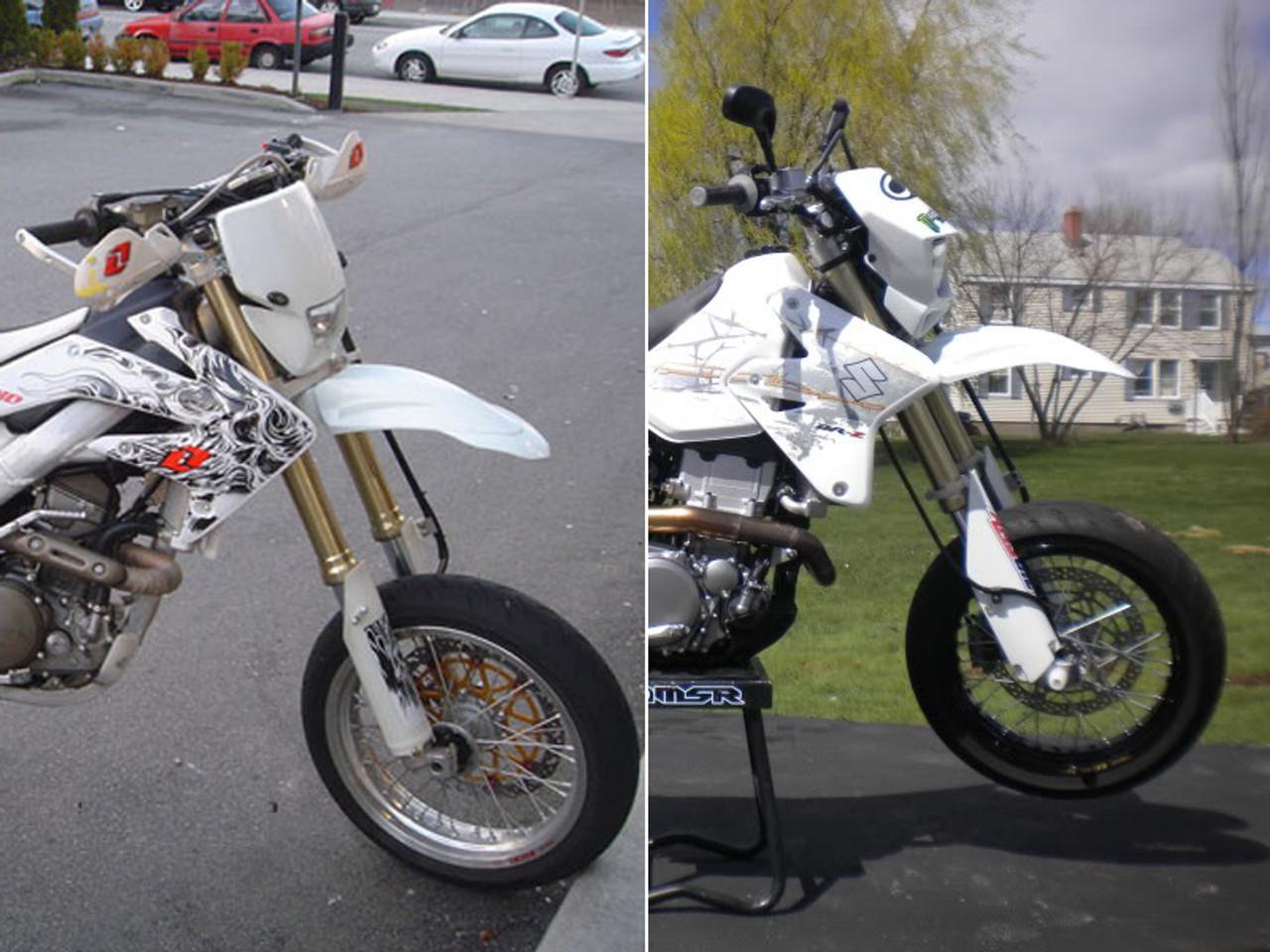 1x Off Road Motocross Rear Fender Mudguard Universal Enduro For Supermotor Bikes