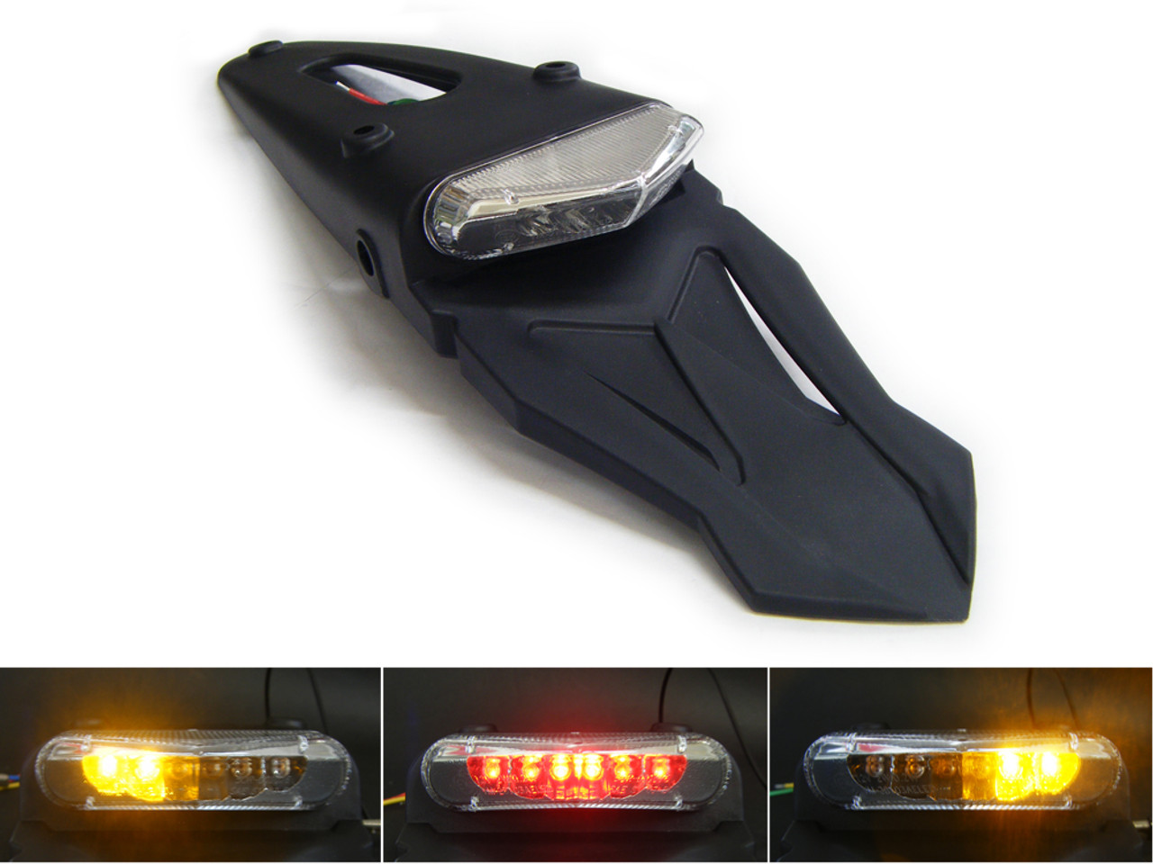 NEW REAR STOP//TAIL MOTORCYCLE MOTORBIKE LIGHT TWIN CHROME SURROUND E-MARKED