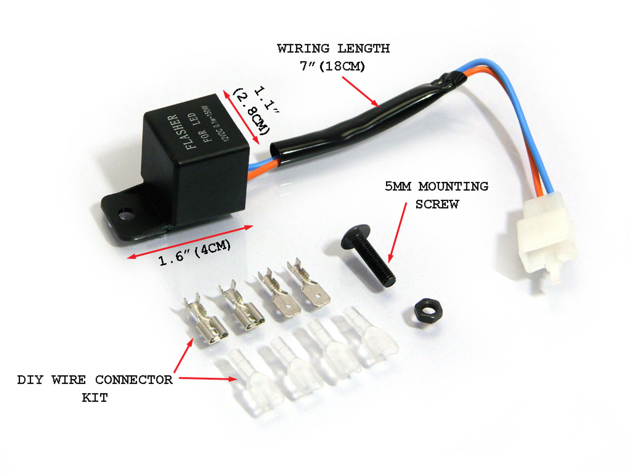 Tremendous 12V Led Flasher Relay For Motorbike Scooter Quad Atv Buggy Wiring 101 Photwellnesstrialsorg