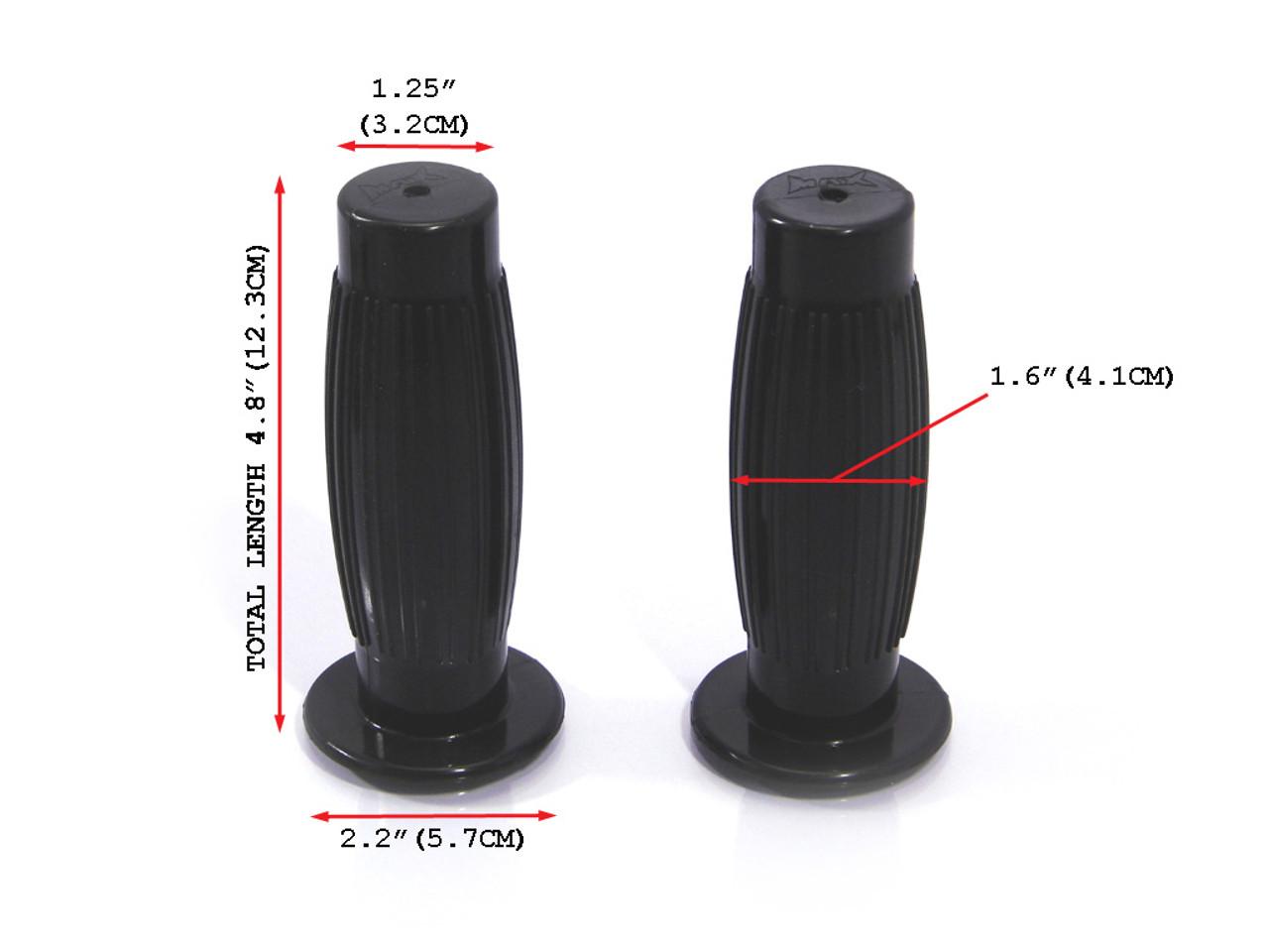 Black Barrel Style Hand Grips fits 7//8 22mm Motorbike Motorcycle Bars Cafe Racers /& Street Scramblers