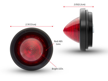 """2"""" 50mm LED Stop Tail Light for Classic Retro Cafe Racer Motorbike Motorcycle"""