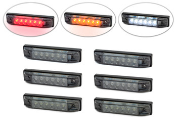 "4"" Flush Mount LED Stop & Tail Lights + Turn Signals + Reverse Lights - Set Of 6"