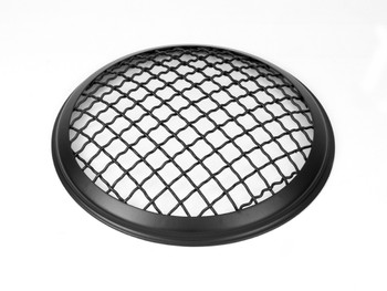 "5.75"" Inch Mesh Grill Motorbike Headlight Cover - Matt Black for Scrambler & Cafe Racer Projects"