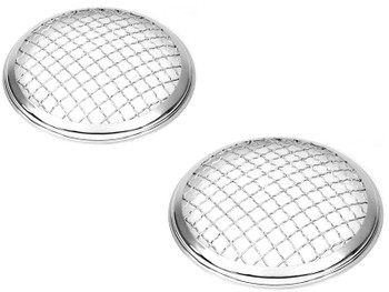"5.75"" INCH Chrome Mesh Grill Headlight Covers for Caterham Project Kit Car PAIR"
