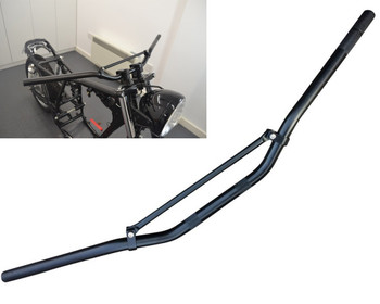 "22mm 7/8"" Black Braced Motorbike Handlebars for Trail / Motorcross / Streetfighters / Scramblers"