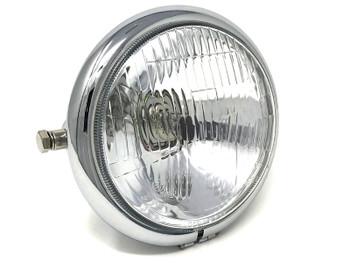 6 inch Motorbike Headlight Custom Chrome for Vintage Retro Project - TOP QUALITY
