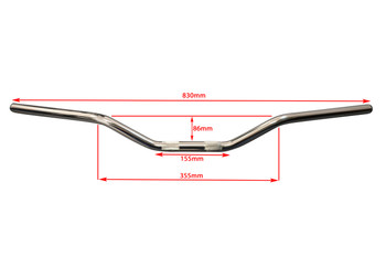 "Chrome Motorbike Drag Handlebars - 22mm (7/8"") for Scramblers Streetfighters Brat Bikes"