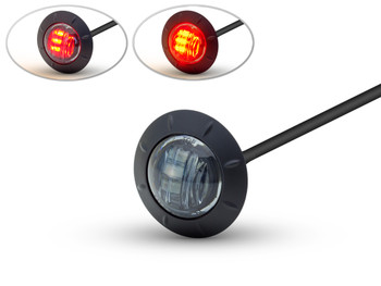 "2"" 50mm Cafe Racer Flush Mount LED Stop / Tail Light with Smoked Lens"