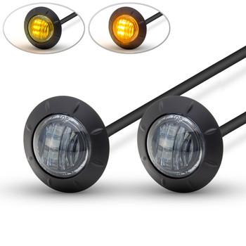 "Motorbike LED Running Lights / Indicators Turn Signals - 2"" 50mm - Smoked Lens"