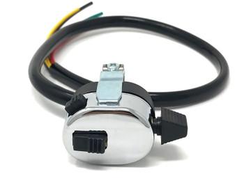"Indicator Horn & High / Low Switch - Custom Lucas Replica - 7/8"" 22mm Bars"