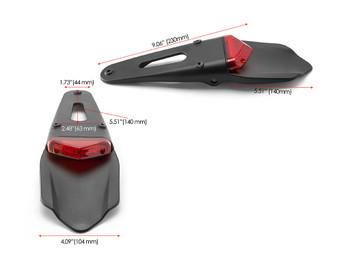 Red Lens LED Stop & Taillight for Supermoto Trail Bike Motocross