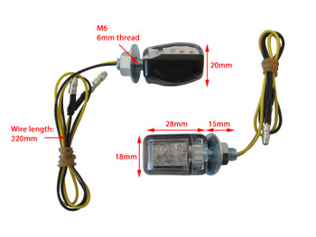 Micro LED Indicators Turn Signals for Cafe Racer Project - BLACK - 2 PAIRS