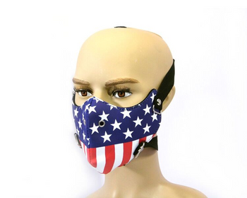 American Flag Bikers Face Mask - Bike Riders - PU Synthetic Leather - One Size