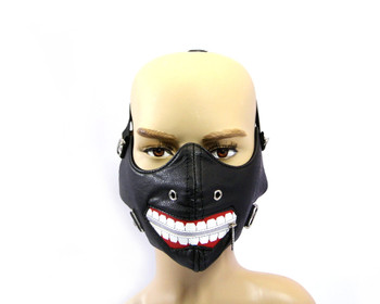 Joker Face Mask - Motorcyclist Bike Riders Bikers - PU Synthetic Leather