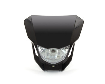 Motorbike Headlight Mask - Supermoto & Streetfighter - Black - 12V 35W